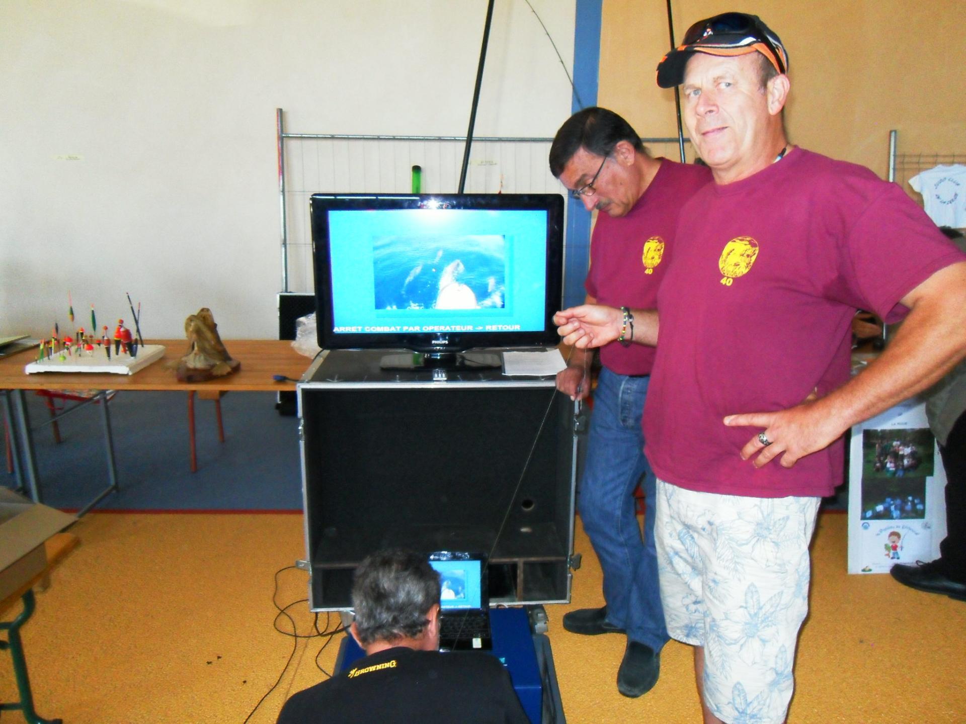 Simulateur dépanné par le Sioux et Thierry Bereyziat