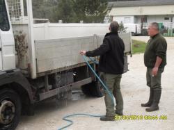 Désinfection du camion